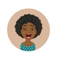 surprised afro american woman avatar vector image