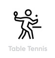 table tennis sport icons vector image vector image