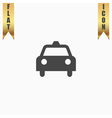 Taxi flat icon vector image vector image
