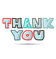 Thank You Title on White Background vector image vector image