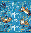 think happy be happy quote print with vector image vector image