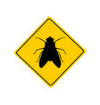 traffic sign for flies on white vector image vector image
