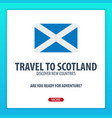 travel to scotland discover and explore new vector image vector image
