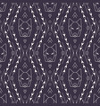 tribal seamless pattern with wolf vector image