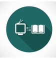 TV and book exchange icon vector image