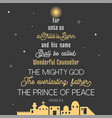 typography of bible verse from chronicles vector image