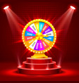 wheel of fortune on the catwalk vector image vector image