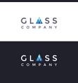 wordmark glass company logo icon vector image