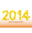 Yellow pattern new year 2014 vector image vector image