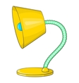 Yellow table lamp icon cartoon style vector image vector image
