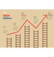 Growth chart with ladders infographic vector image