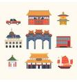 Traditional Chinese Buildings Hong Kong travel vector image