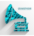 Polygonal retro gramophone background vector image