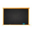 empty school blackboard in wooden frame with chalk vector image