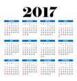 2017 calendar planner template vector image
