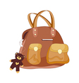 A view of hand bag vector image vector image
