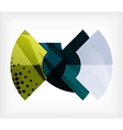 Abstract blank banner made of pieces vector image