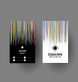 abstract striped business card design vector image vector image