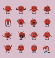 apple character emoji set vector image vector image