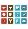 astrological signs set vector image vector image