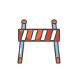 barrier traffic protection safety fill vector image