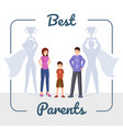 best parents flat happy vector image vector image