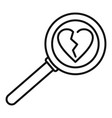 break heart after divorce icon outline style vector image vector image