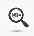 business security word magnifying glass vector image