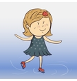 cartoon ice skater vector image vector image