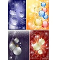 christmas background set vector image