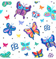 colorfful butterflies vector image vector image