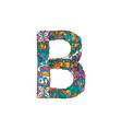 colorful ornamental alphabet letter b font vector image vector image