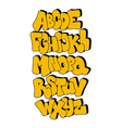 comic style font alphabet vector image vector image