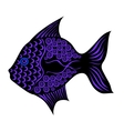 Contrast stylized fish vector image vector image