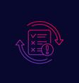 failed test linear icon vector image vector image