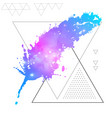 feather flat icon with space background inside vector image
