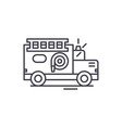 fire engine line icon concept fire engine vector image vector image