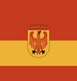 flag of potsdam in brandenburg germany vector image