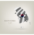 flag south korea as a country vector image