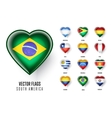 flags countries south america vector image