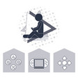 gamer and videogames vector image
