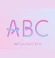 grade 1 font alphabet vector image
