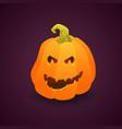 gradient element pumpkin face for halloween vector image vector image