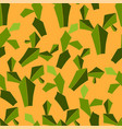 green plants for landscape cacti and suns vector image