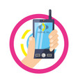 hand with smarphone calling a person vector image