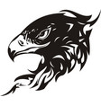 head of an eagle in the form tatto vector image vector image