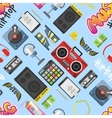 Hip hop pattern background vector image vector image
