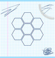 honeycomb sign line sketch icon isolated on white vector image vector image