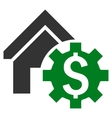 House Rent Options Flat Icon vector image