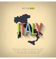 italy map in flat design Italian border vector image vector image